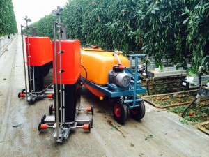 spuitrobots met empas tank